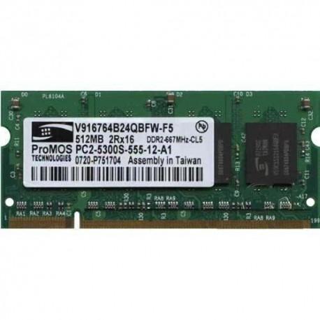 Memoria Ram Ddr2 512mb PC2-5300s